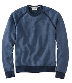 Men's Cotton/CoolMax Performance Crewneck Sweater, Slightly Fitted Long-Sleeve