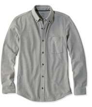 Men's L.L.Bean Performance Piqué-Knit Shirt, Slightly Fitted Long-Sleeve