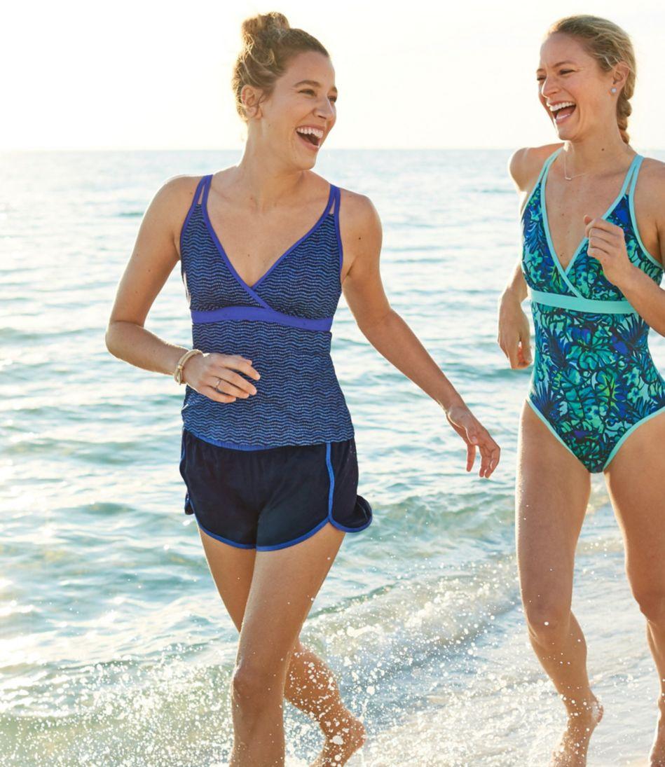 ReNew Swimwear, V-Neck Tankini Print