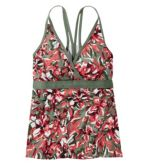 Women's ReNew Swimwear, V-Neck Tankini Print