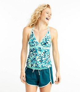 Women's ReNew Swimwear, V-Neck Tankini Print