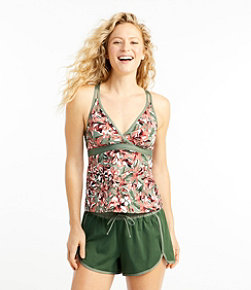 ReNew Swimwear, V-Neck Tankini Print
