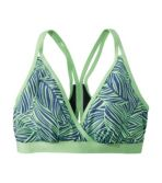 Women's ReNew Swimwear, V-Neck Bikini Top Print