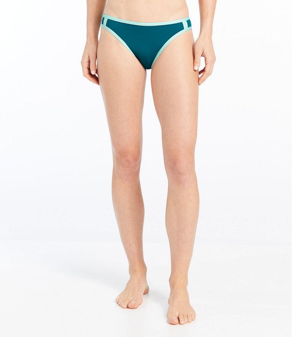 ReNew Swimwear, Mid-Rise Brief Colorblock