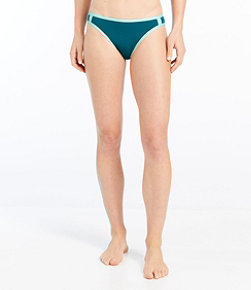 Women's ReNew Swimwear, Mid-Rise Brief Colorblock