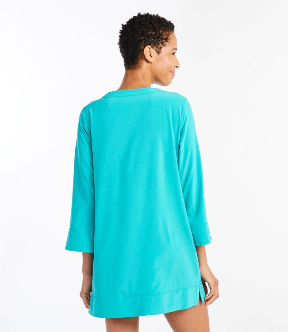 L.L.Bean Stretch Swim Cover-Up, Splitneck Tunic