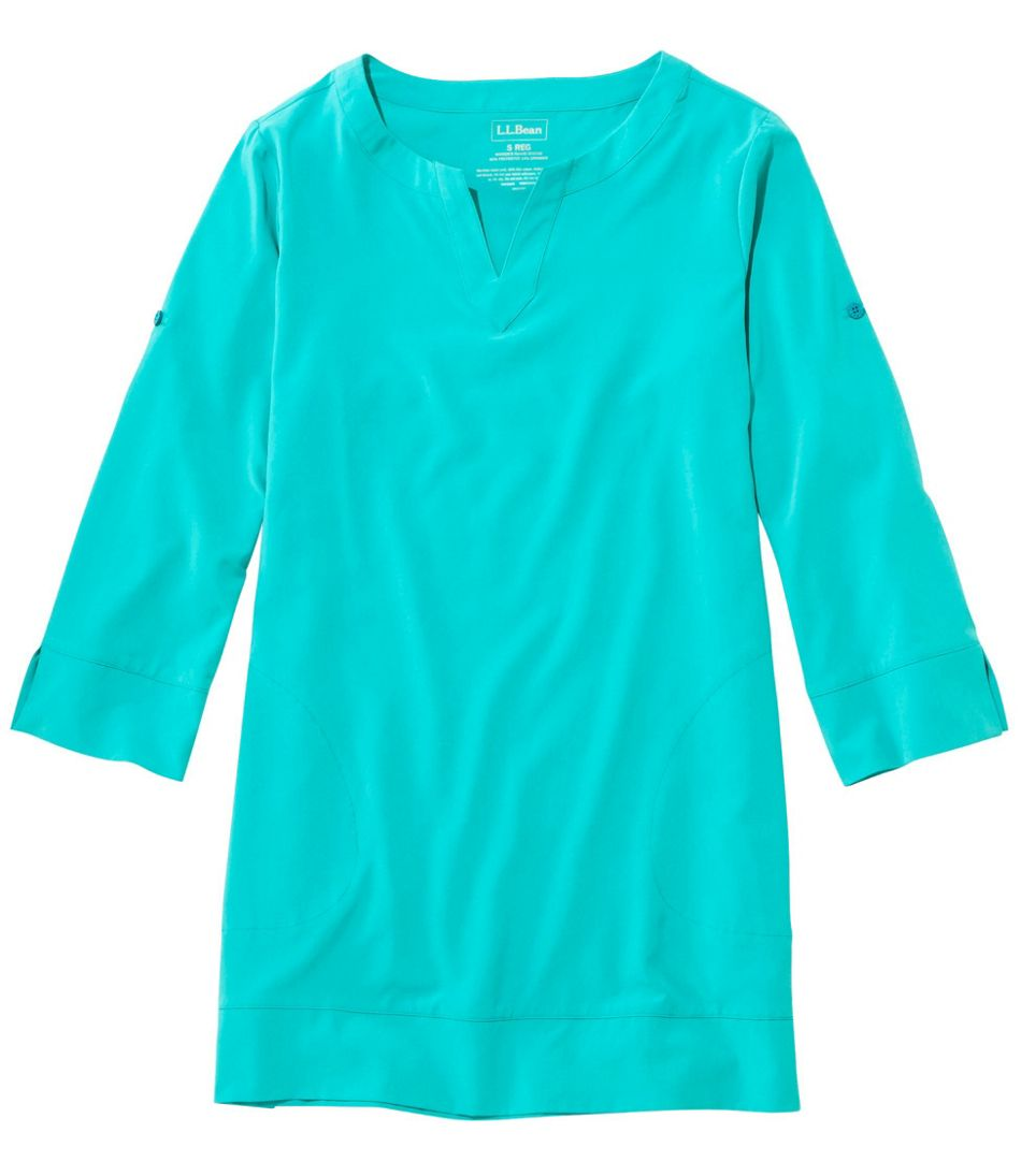 346420cf04072 ... L.L.Bean Stretch Swim Cover-Up, Splitneck Tunic ...