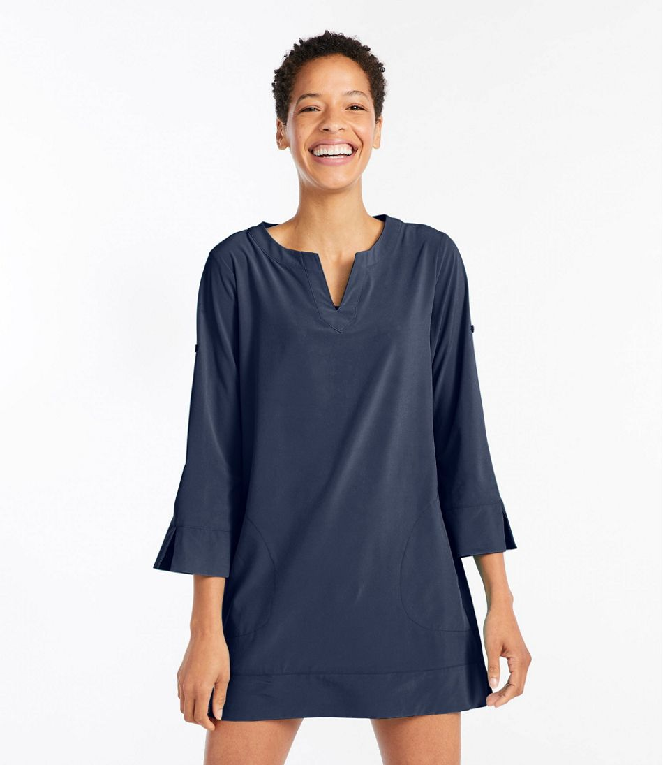 0a7cfbf874389 Women's L.L.Bean Stretch Swim Cover-Up, Splitneck Tunic