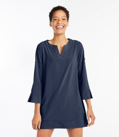 L.L. Bean Stretch Swim Cover-Up, Splitneck Tunic