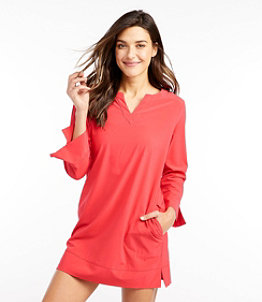 Women's L.L.Bean Stretch Swim Cover-Up, Splitneck Tunic