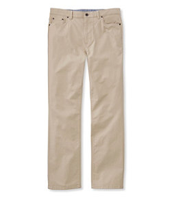 Men's Lakewashed Five-Pocket Stretch Khakis, Standard Fit