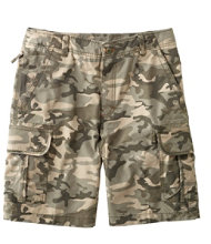 L.L.Bean Allagash Cargo Shorts, Natural Fit Camouflage