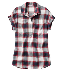 Women's Signature Drapey Popover, Short-Sleeve
