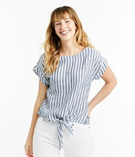 Signature Short-Sleeve Linen Top
