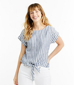 Women's Signature Short-Sleeve Linen Top