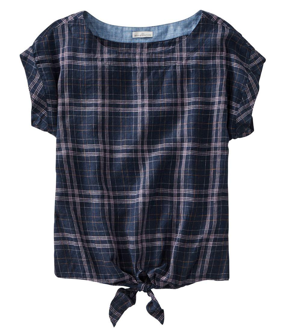 Women's Signature Short-Sleeve Linen Top