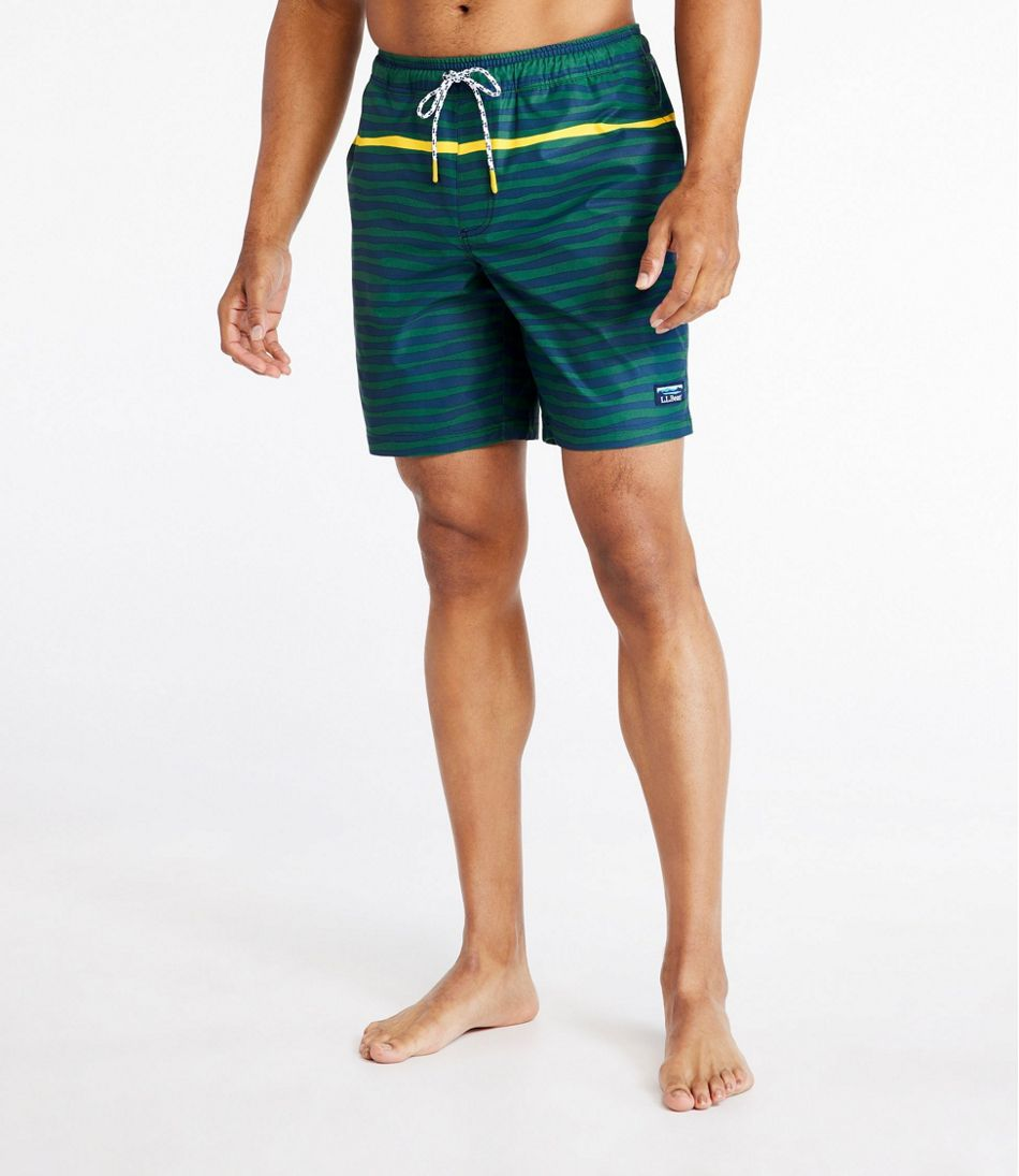 "Men's Vacationland Stretch Swim Trunks, 8"", Print"
