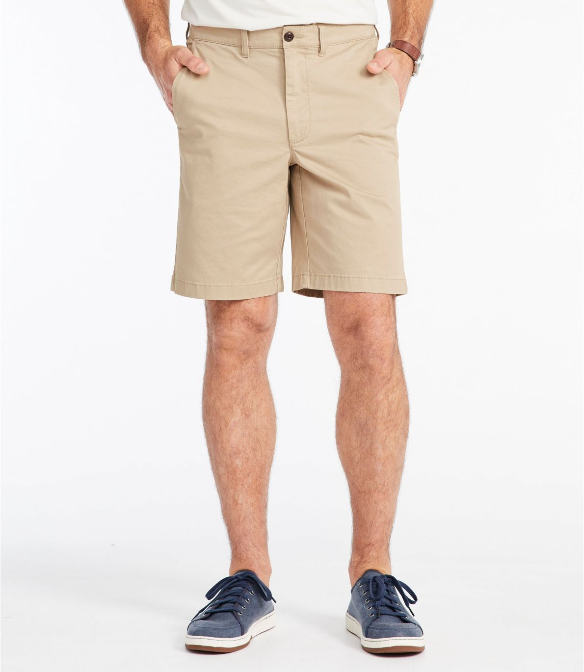 Men's Lakewashed® Stretch Khaki Shorts, Standard Fit