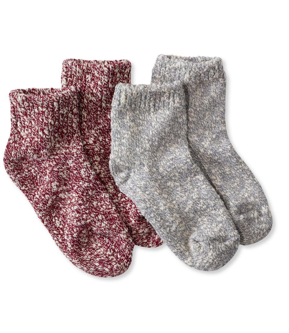 Kids' Cotton Ragg Socks, Two-Pack Quarter-Crew