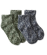 Kids' Cotton Ragg Socks, Two-Pack Quarter-Crew