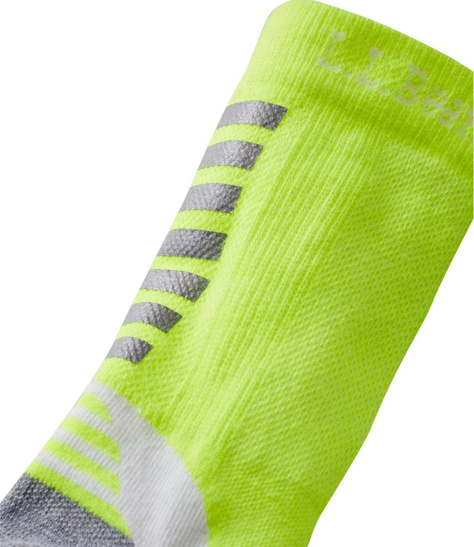 Kids' CoolMax Nano Glide Reflective Crew Socks