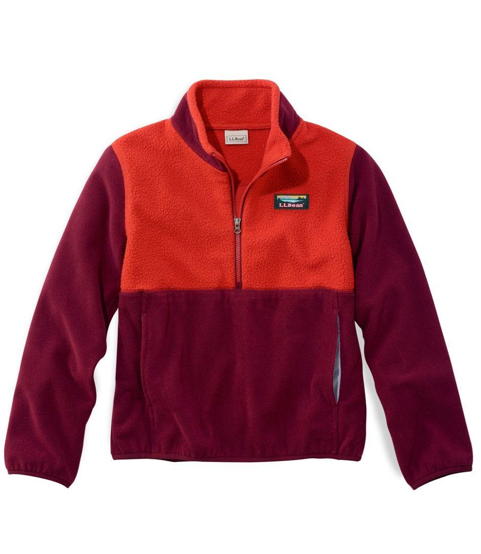 Kids' Katahdin Microfleece Pullover, Colorblock