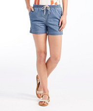Signature Stretch Denim Shorts