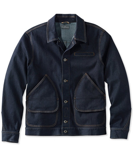 Men's Vintage Style Coats and Jackets 1924 Signature Denim Field Coat $129.00 AT vintagedancer.com