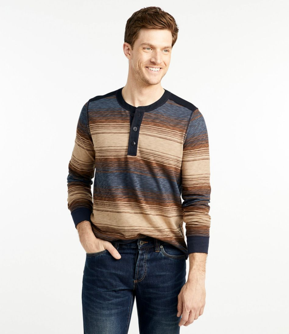 Signature Henley Print, Long-Sleeve
