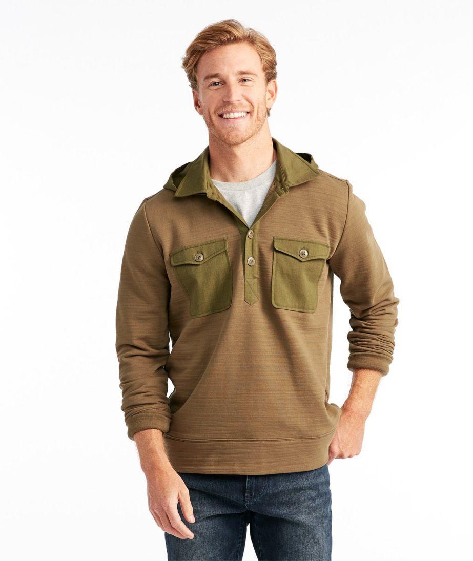 Men's Signature Hooded Henley Sweatshirt, Long Sleeve