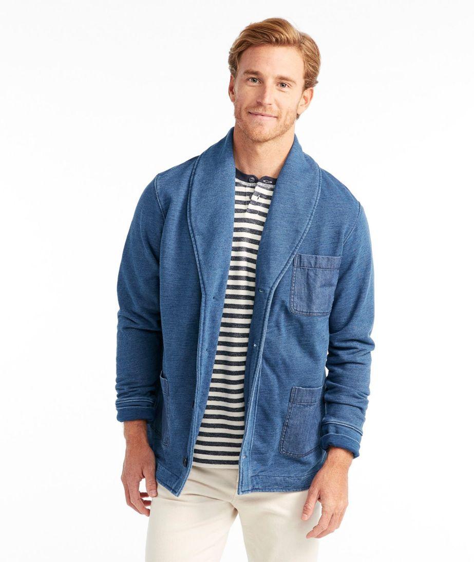 Signature Shawl Cardigan Sweatshirt, Long-Sleeve