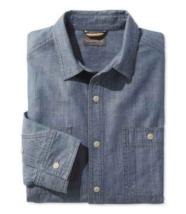 Signature Chambray Shirt, Long-Sleeve, Slim Fit
