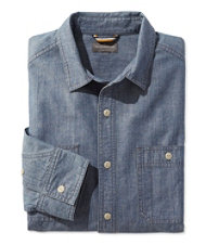 Signature Chambray Shirt, Long-Sleeve
