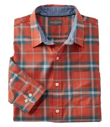 Men's Signature Stretch Oxford Shirt, Slimmest Fit Long-Sleeve Plaid