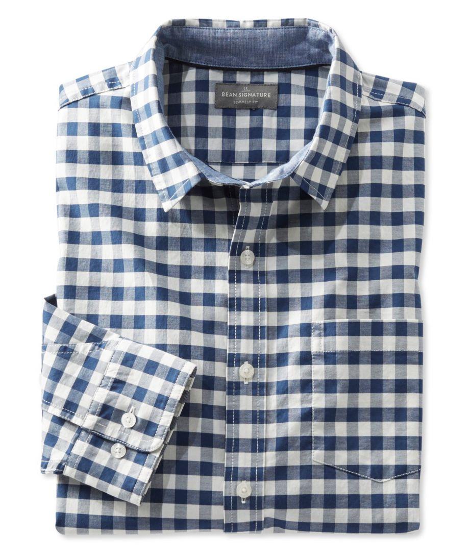 Signature Stretch Oxford Shirt, Slimmest Fit Long-Sleeve Plaid