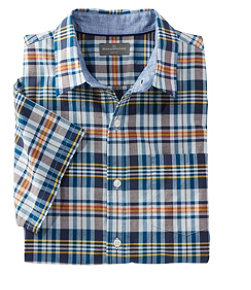 Signature Madras Shirt, Short-Sleeve, Plaid