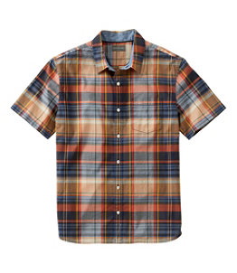 Men's Signature Madras Shirt, Short-Sleeve, Plaid