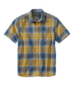 Men's Signature Madras Shirt, Short-Sleeve, Plaid
