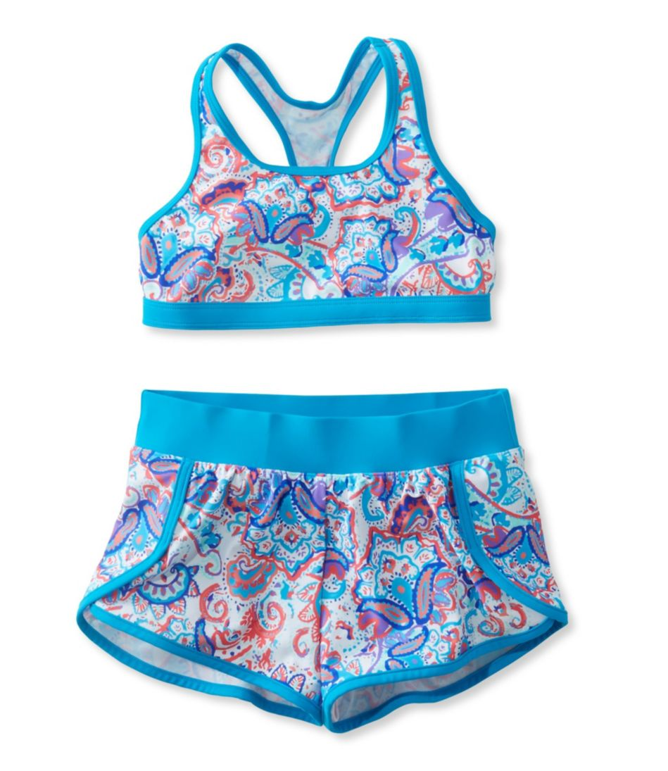 Girls' BeanSport Short Set Swimsuit, Print