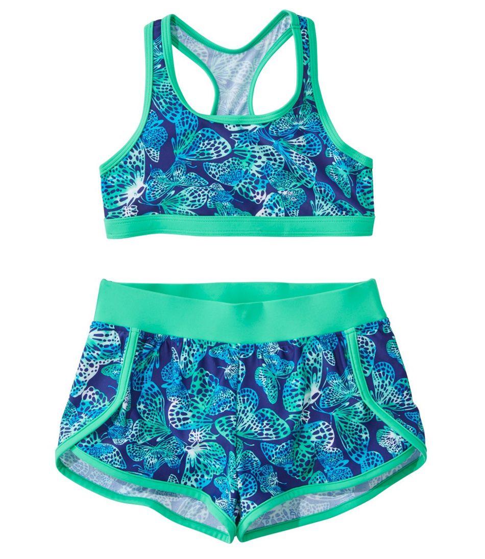Girls' BeanSport Short Set Swimsuit, Print
