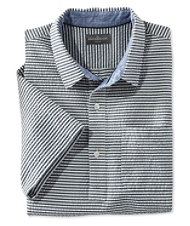 Signature Summer Indigo Seersucker Popover, Short-Sleeve Plaid