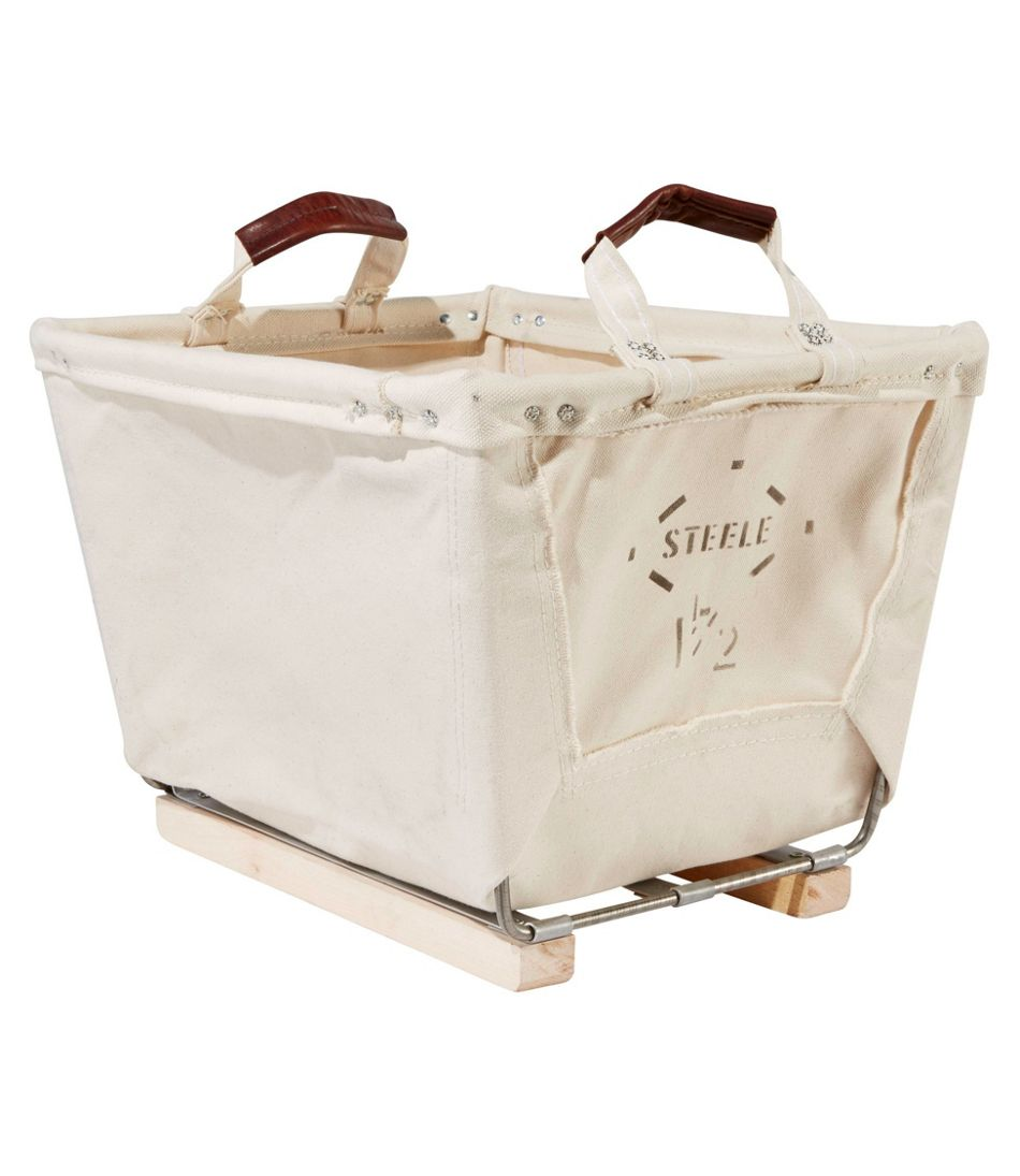 Steele Small Carry Basket With Wood Runners