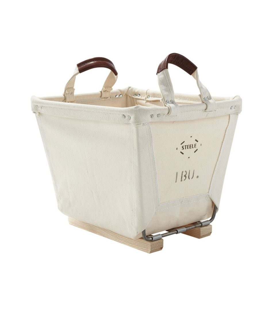 Small Carry Basket With Wood Runners