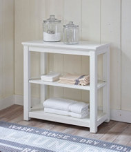 Painted Farmhouse Two-Shelf Console