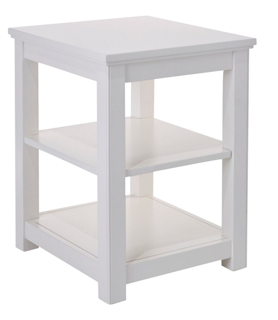 Painted Farmhouse Two Shelf End Table
