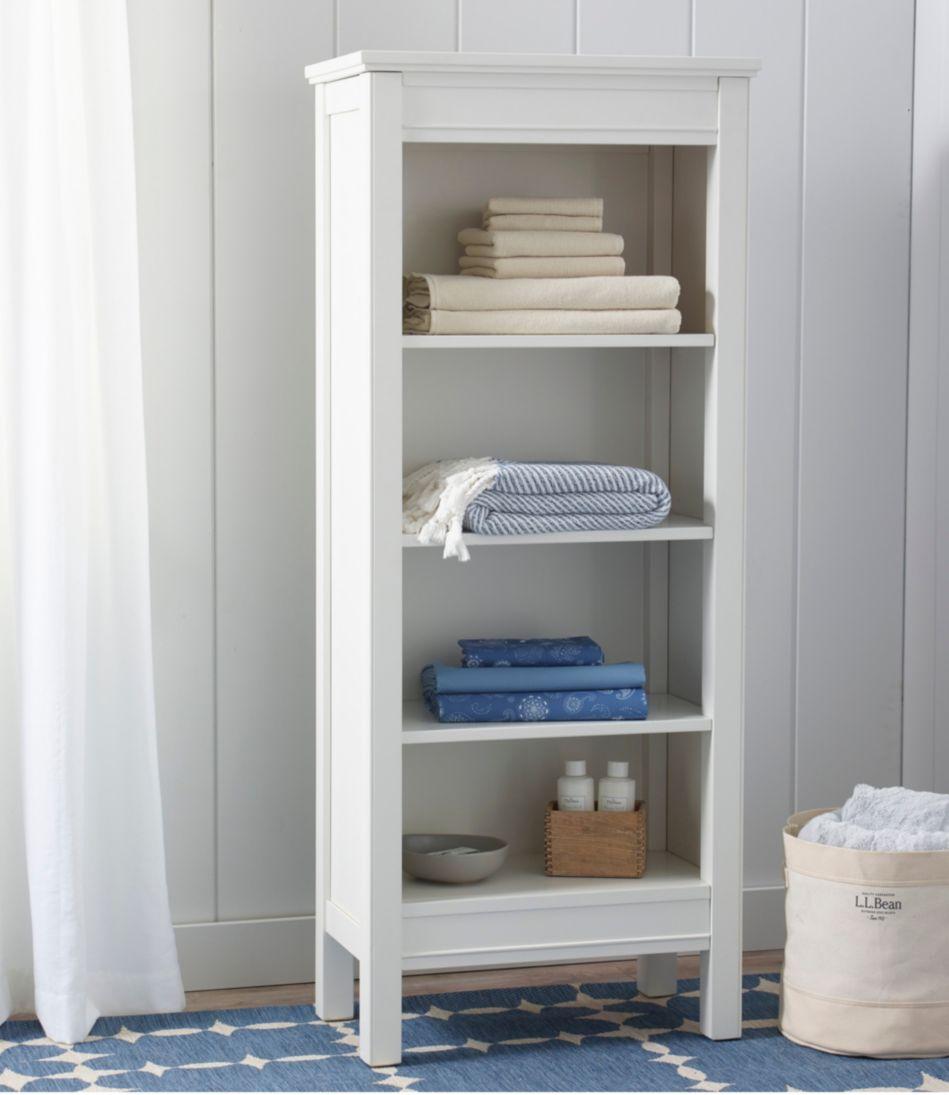 Painted Farmhouse Four-Shelf Bookcase