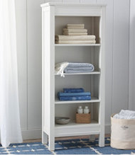 Painted Farmhouse Four-Shelf Bookcase