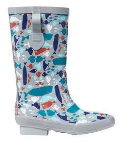 L.L.Bean Wellies Boot Print Kids'