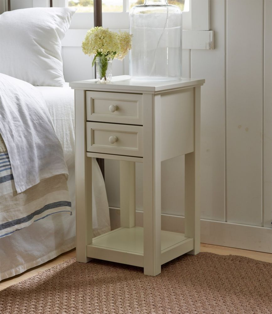 Painted Farmhouse Two Drawer Side Table