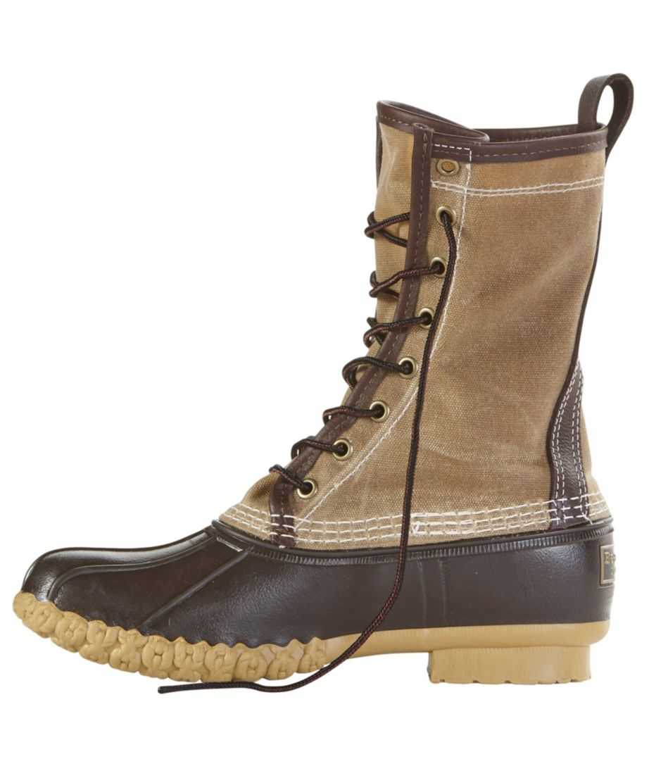 "Women's Katahdin Patch Waxed-Canvas L.L.Bean Boots, 10"""